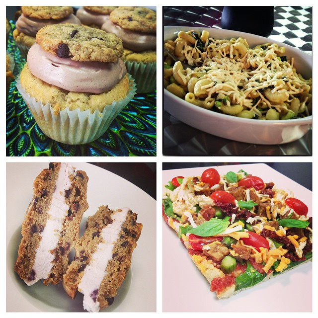 Lots to choose from today! We have pizza, Mac and cheese, salads and to satisfy your sweet tooth we have ice cream sandwiches and cupcakes, happy Saturday! #glutenfree #vegan #healthy #wheatfree #wholegrain #whatveganseat #dairyfree #mtl