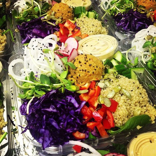 Asian salad bowl in store today, at biotite and @rejuicenutrition , grabs yours #glutenfree #vegan #plantbased #plantprotein #salads #fresh #healthy #raw
