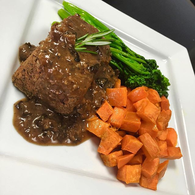 What are your lunch or dinner plans today? Enjoy our lentil loaf with wild mushroom and miso gravy with a side of sautéed rapini and roasted sweet potatoes #glutenfree #vegan #plantbased #plantprotein #wheatfree #noanimalcruelty #hearthealthyfood #plantbasednutrition #feelgoodaboutwhatyoueat @theseedexperience @veganfoodshare @seedfw @veganfoodlovers @allaboutveganfood