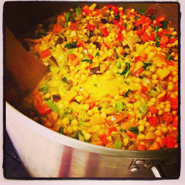 Serving up lots of Thai red curry today: roasted squash, sweet potatoes, eggplant, snow peas, mangoes and bell peppers served over brown rice #glutenfree #cegan #soyfree #thai #veganthaifood #glutenfreethai #plantbased #plantbasednutrition #healthyingredients
