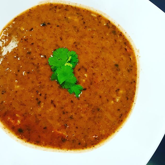 We have a roasted pepper & black bean soup to warm you up ️