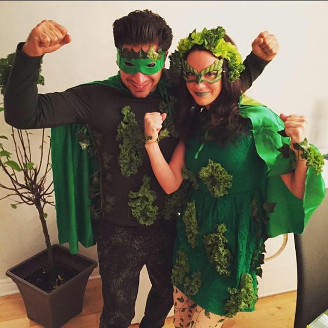 TB to when Alex and I were Mr. & Mrs. Captain Kale! #halloween #kale #makeyourowmcostume #couplecostume