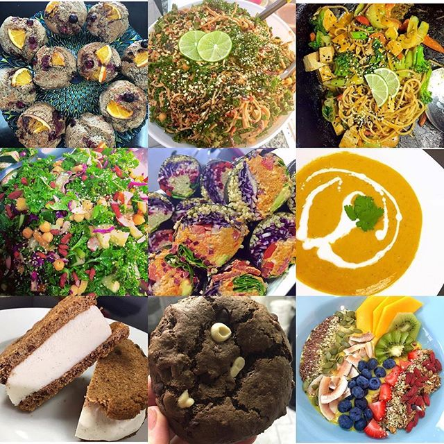 It's Tuesday and you can find all this deliciousness in store : carrot ginger soup, oriental sauté, brown rice noodle salads, smoothies, rocky road cookies, field berries muffins and more  #glutenfree #vegan #dairyfree #mealstogo #cleaneating #chefveganessa