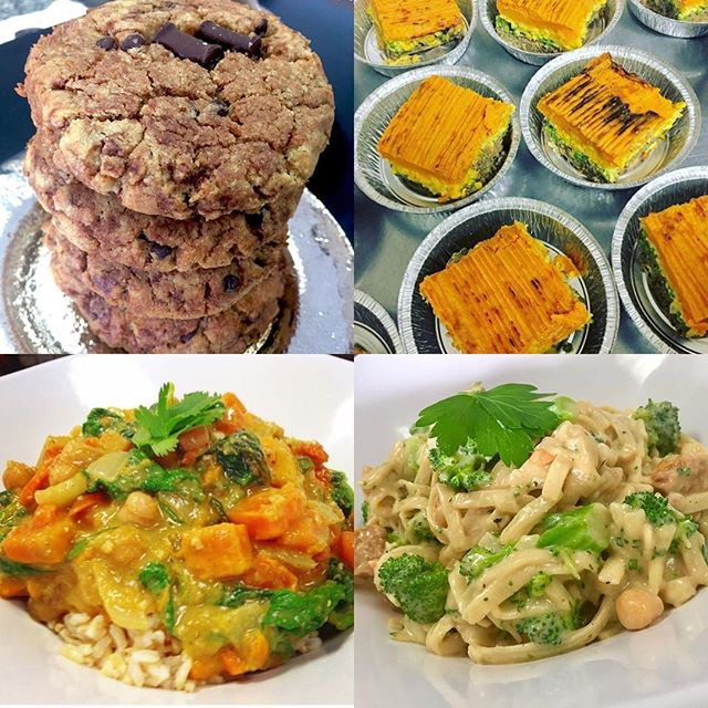 Thai yellow curry, sweet potato shepherds pie and fettuccine Alfredo is on the menu today #mtlvegan #dairyfree #mealstogo #plantstrong #plantbased #glutenfree #soyfreeoptions #chefveganessa #cleaneating