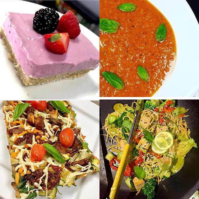 Pizza, Indonesian stir fry, roasted red pepper bisque and strawberry cheesecake is in store today! #glutenfree #vegan #veganmtl #mealstogo #plantbased #soyfreeoptions #wheatfree #wholegrain #whatveganseat