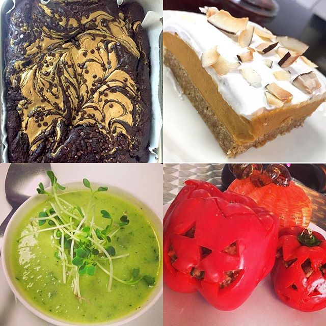 Happy Halloween, with every in store purchase today receive a free pumpkin frosted cupcake. We have stuffed peppers, salad bowls, kale & broccoli soup, pumpkin pie and lots of other goodies!