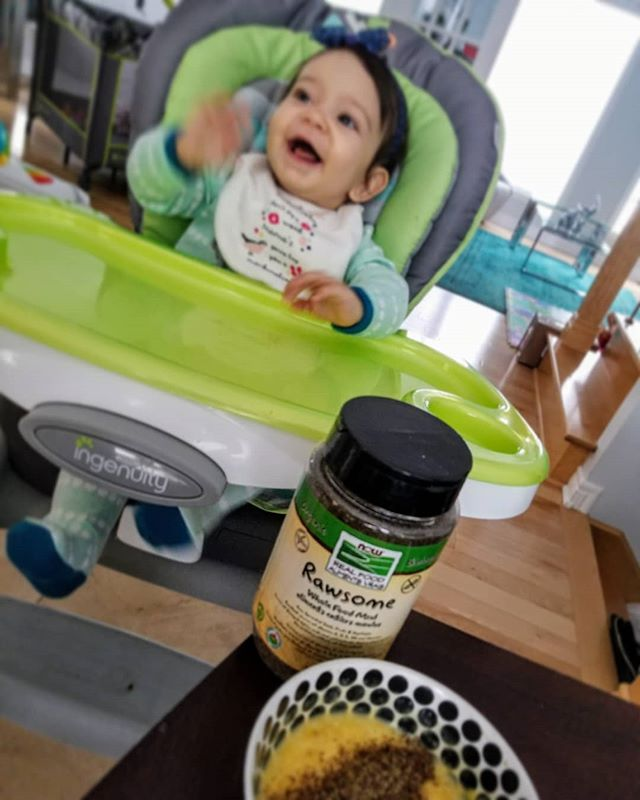 Even the baby loves it Rawsome Whole Meal, a mixture of organic sprouted superfoods, great to sprinkle on cereals, salads, pizza, and well, kinda on anything  @nowfoodsofficial #LiveNaturalNow#NowFoodsCanada#NowFoods#NowFoodsOfficial#PureSource#RawsomeNOW#NOWSuperfood#NOWWholefoodmeal#RawsomeWholeFood#RawsomeWholeFoodMeal#SmartGrain#RawsomeVegetarian#Partner#VistaMagCanada#VistaMagazine#VistaAmbassadors#CHFA