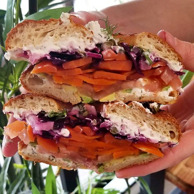 Smoked carrot lox available every friday and saturday
