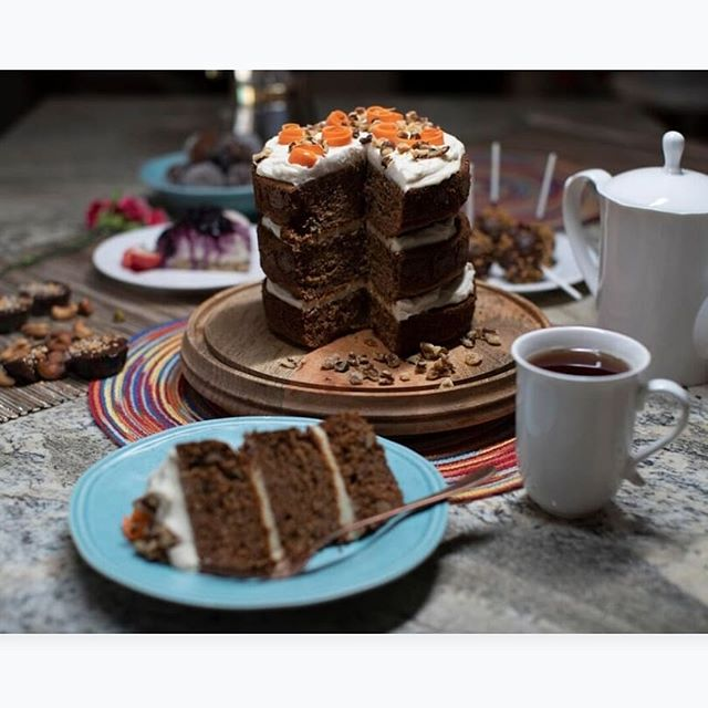 Have you tried our carrot cake? It's in store today!#plantbased  #wheatfree #dairyfree #carrotcake #vegancarrotcake #wholegrain