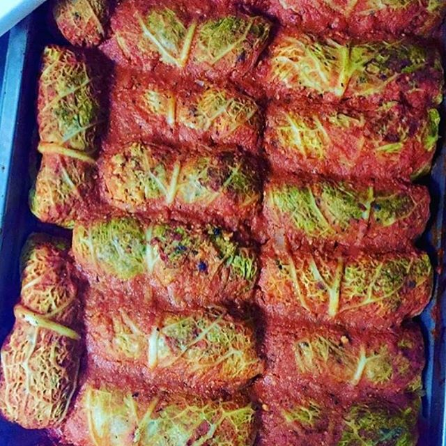 Stuffed cabbage rolls are my fav and they are in store today!
